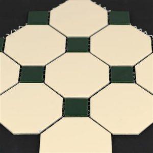 4od-0242-0394-vanilla-dark-green-octagonal-mosaics