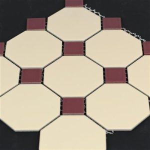 4od-0242-0572-vanilla-burgundy-octagonal-mosaics